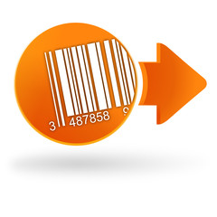 code-barres sur symbole web orange