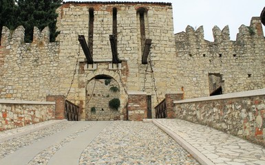 entrance of the medieval castle in Italy