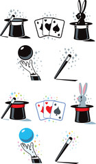 Flat Magician Icons