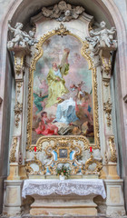Jasov - Baroque paint of st. Andrew and st. John the Nepomuk