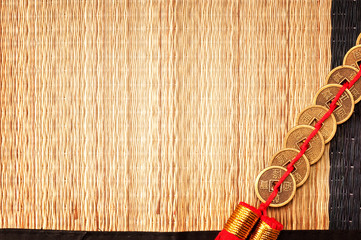 Background with Chinese lucky coins