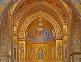 Palermo - Christ in main apse of Monreale cathedral.