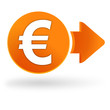 euros sur symbole web orange