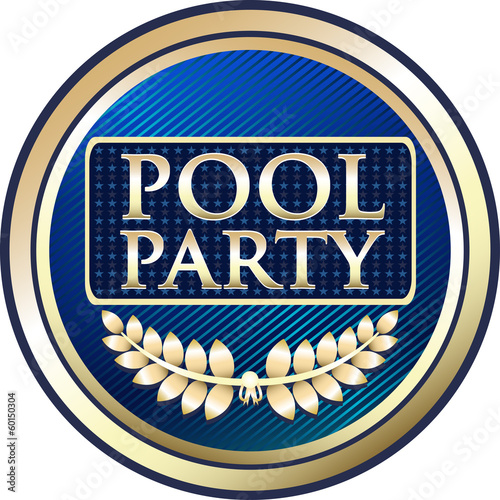 Pool Party Label