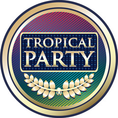 Tropical Party Invitation Label