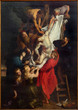 Leinwanddruck Bild - Antwerp - Raising of the cross by Rubens from cathedral