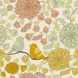 Fototapety Seamless floral pattern