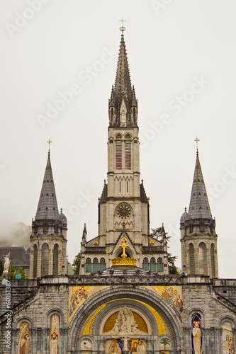 The sanctuary of Lourdes (Pyrenees, France) Poster