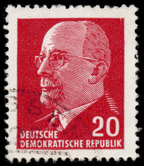 GERMAN DEMOCRATIC REPUBLIC - CIRCA 1961: A stamp printed in Germ