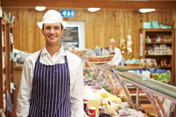 Male Sales Assistant In Delicatessen