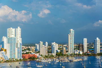 Yachts and Modern Cartagena