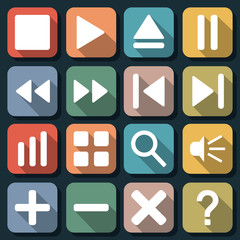 Flat web icons vector set 2