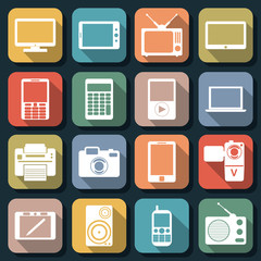 Flat web icons vector set 1