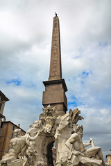 """Fountain of the Four Rivers"" by Bernini, Piazza Navona, Rome, I"
