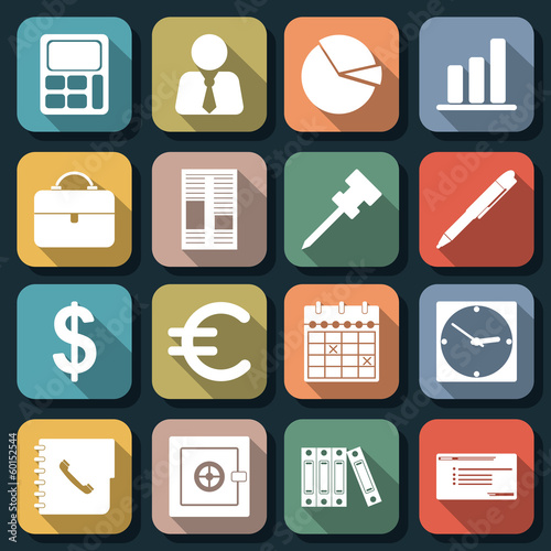 Flat web icons vector set 4