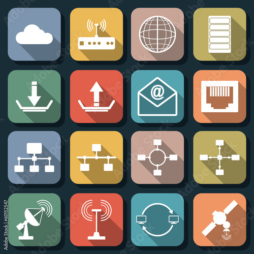 Flat web icons vector set 3