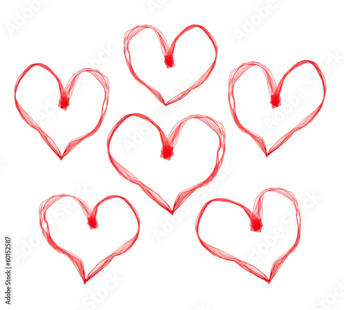 Red valentine hearts