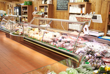 Empty Interior Of Delicatessen