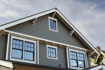 Front Roof line of an Upscale Home