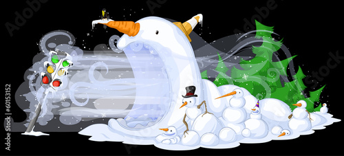 Snowmen Traffic Freeze