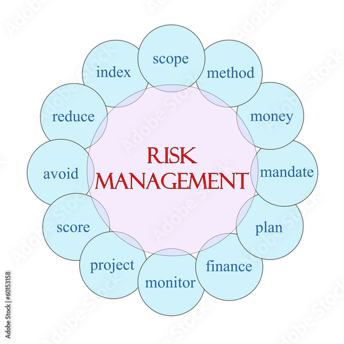 Risk Management Circular Word Concept