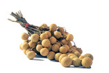 bunch of Longan isolate on white background
