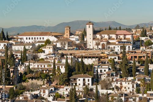 San Nicolas church in Moorish Albaicin district of Granada