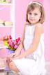 Little girl sitting