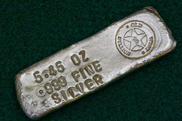 Stamped Silver Bullion Bar - Poured Ingot