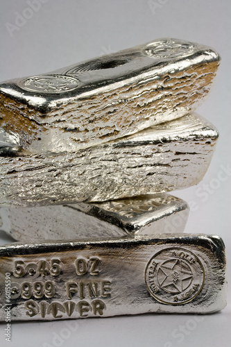 Stamped Silver Bullion Bars - Poured Ingots
