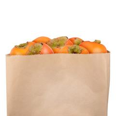 Bag of persimmons