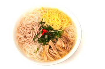Vietnamese bun thang soup