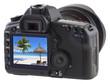 plage des Seychelles sur écran appareil photo