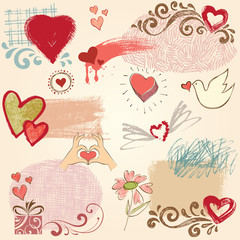 Hearts Design Set
