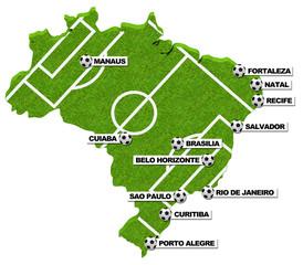 Die Austragungsorte in Brasilien