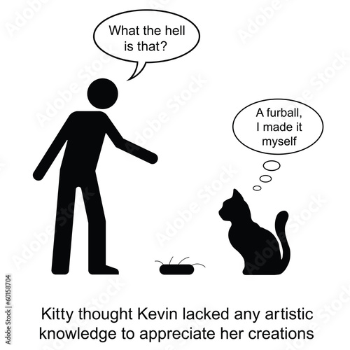 poster of Kevin was presented with a furball