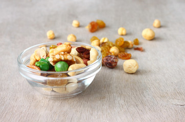 Assorted healthy mixed nuts