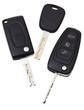 top view of three vehicle keys - 60159150