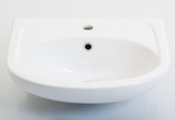 new white sink on a white background