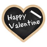 Herz Tafel Schiefer - Happy Valentine