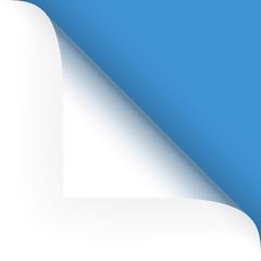 Papier - Ecke oben blau