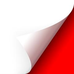 Papier - Ecke unten rot