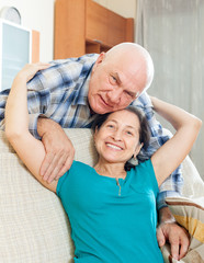 elderly man  with mature girlfriend