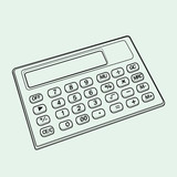calculator out line vector