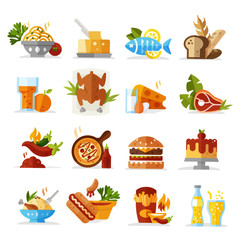 Food icons - colored series eps 10