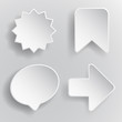 Abstract vector icon white colour on gray background
