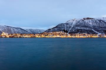 Tromso during the Polar night