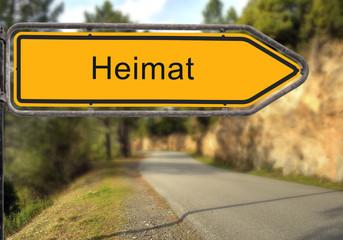 Strassenschild 14 - Heimat