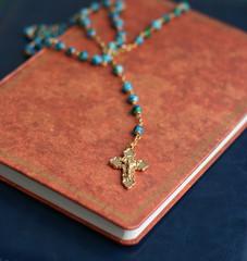 Crucifix on Holy Bible