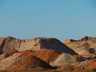 Opal mines in Coober Pedy in South australia